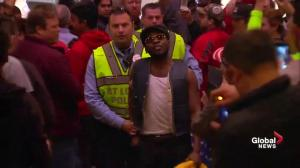 'He's all mouth, get him out': protester escorted out of Trump rally