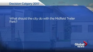 Calgary election 2017: Mayoral candidates answer your question on Midfield trailer park