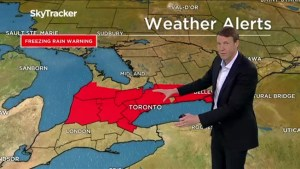 Potentially major ice storm on its way to Ontario