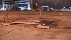 Decarie water main break  to cause traffic along service road