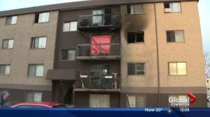 One person found dead following fire in central Edmonton