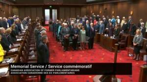 Memorial service, moment of silence held in Ottawa for former parliamentarians