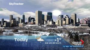 Edmonton early morning weather forecast: Friday, February 23, 2018