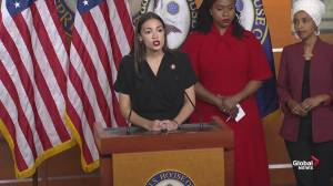 Alexandria Ocasio-Cortez responds to Donald Trump's attacks: 'We don't leave the things that we love'
