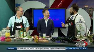 In the Global Edmonton kitchen with Holy Roller