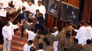 Sri Lanka parliament descends into farce amid political turmoil