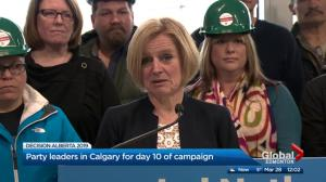 Alberta Election Day 10: Leaders in Southern Alberta