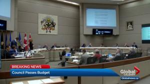 Calgary city council approves 4-year budget