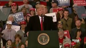Trump says Democrats want migrant caravan to come to U.S.