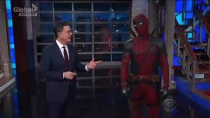 Deadpool makes surprise appearance on The Late Show With Stephen Colbert