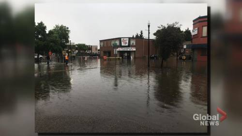 Swift Current, Sask. hit by sudden heavy rain storm, flooding