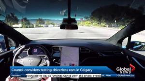 Calgary councillors consider allowing driverless cars