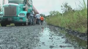 RAW: FARC forces 19 oil trucks to dump crude oil in Amazon jungle