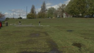 The Vancouver Park Board says it may take 10 weeks to repair the field at Sunset Beach Park after 4/20