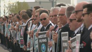 WestJet pilots picket outside of annual AGM