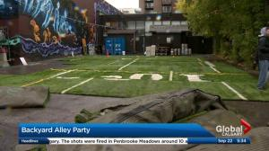 Pop-up backyard park and party on 17 Avenue amid construction