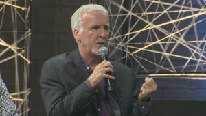 Raw video: Director James Cameron in Montreal