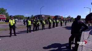 Police take position in Quebec City as G7 protesters gather