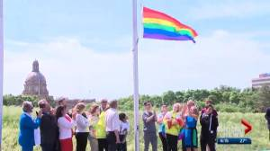 Pride flag raised at Alberta Legislature