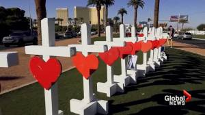 Why did a carpenter craft 58 crosses to honour Las Vegas shooting victims?