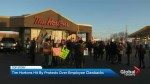 Protests hit Tim Hortons locations across Toronto