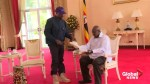 Kanye West gifts  'Yeezy' sneakers to Uganda's president