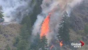 Wildfire on Richter Mountain grows