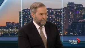 NDP leader Thomas Mulcair talks about his idea for national childcare