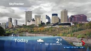 Edmonton early morning weather forecast: Wednesday, October 11, 2017