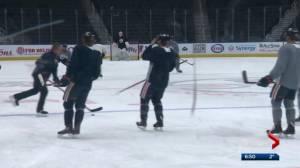 Puljujarvi skates on McDavid's line at Oilers practice on Thursday