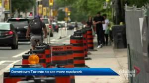 Downtown Toronto to see more roadwork