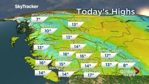 B.C. evening weather forecast: April 9