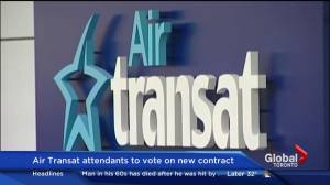 Air Transat attendants to vote on new contract (00:18)