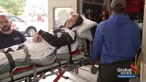 Humboldt Broncos player Ryan Straschnitzki in Philadelphia for rehabilitation