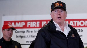 Trump says California wildfires have not changed his mind on climate change