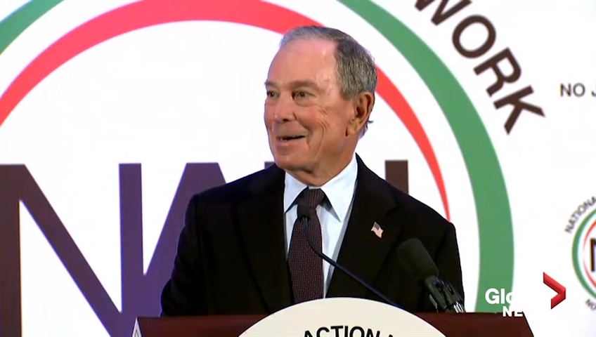 Michael Bloomberg will not be running for president in 2020