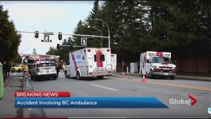 Ambulance-involved crash in Richmond