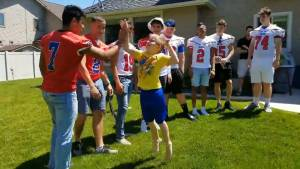 Football team surprises boy with autism after classmates decline his birthday party