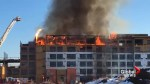 Massive fire at a construction site in Saskatoon