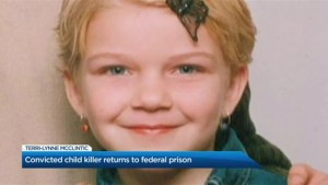 Tori Stafford's killer returns to a federal prison