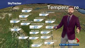 Edmonton Noon Weather Forecast: Friday, Feb. 15