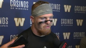 RAW: Blue Bombers Adam Bighill Post Game
