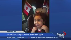 Toddler throws temper tantrum over Harjit Sajjan