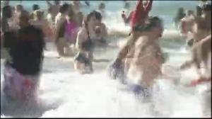 Thousands participate in 'Polar Bear Dip' on Coney Island