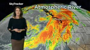 Atmospheric river hits B.C's south coast