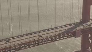 Trump Inauguration: Thousands protest against Trump on Golden Gate Bridge