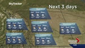 Global Calgary accidentally predicts a really, really cold Sunday