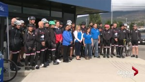 Okanagan police take to streets for 1,000 km ride to benefit kids