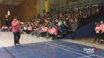 Saskatchewan Roughriders player brings anti-bullying message to Fredericton school
