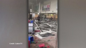 Destruction inside Brussels airport following deadly terror attack